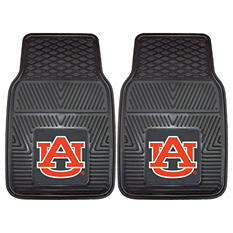 "NCAA Auburn Heavy-Duty 2-Piece Vinyl Car Mats - 18"" x 27"""