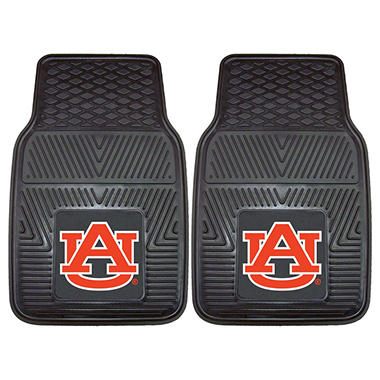 NCAA Auburn Heavy-Duty 2-Piece Vinyl Car Mats - 18