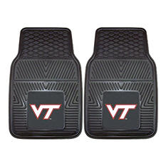 "NCAA Virginia Tech Heavy-Duty 2-Piece Vinyl Car Mats - 18"" x 27"""