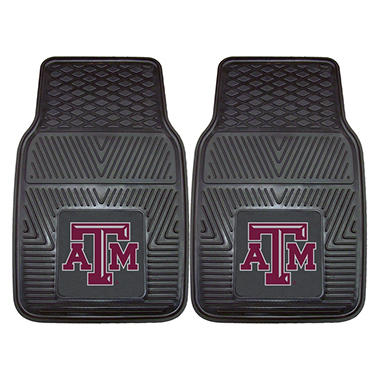 NCAA Texas A&M Heavy-Duty 2-Piece Vinyl Car Mats - 18