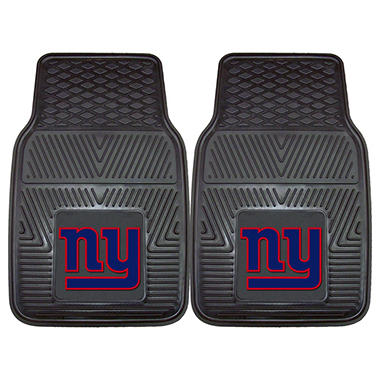 NFL New York Giants Heavy-Duty 2-Piece Vinyl Car Mats - 18