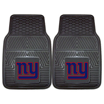"NFL New York Giants Heavy-Duty 2-Piece Vinyl Car Mats - 18"" x 27"""
