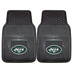"NFL New York Jets Heavy-Duty 2-Piece Vinyl Car Mats - 18"" x 27"""