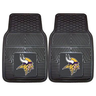 NFL Minnesota Vikings Heavy-Duty 2-Piece Vinyl Car Mats - 18