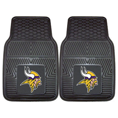 "NFL Minnesota Vikings Heavy-Duty 2-Piece Vinyl Car Mats - 18"" x 27"""