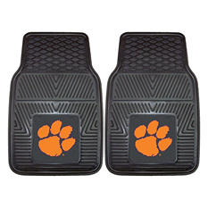 "NCAA Clemson Heavy-Duty 2-Piece Vinyl Car Mats - 18"" x 27"""