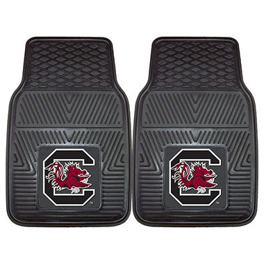 "NCAA South Carolina Heavy-Duty 2-Piece Vinyl Car Mats - 18"" x 27"""