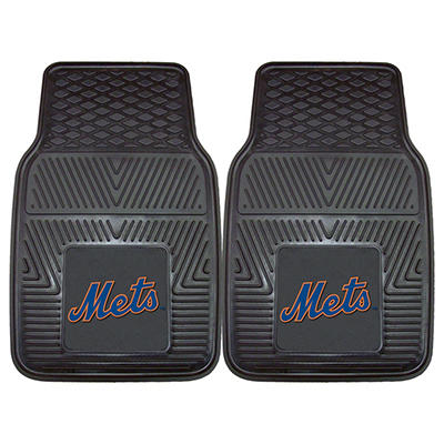 "MLB New York Mets Heavy-Duty 2-Piece Vinyl Car Mats - 18"" x 27"""