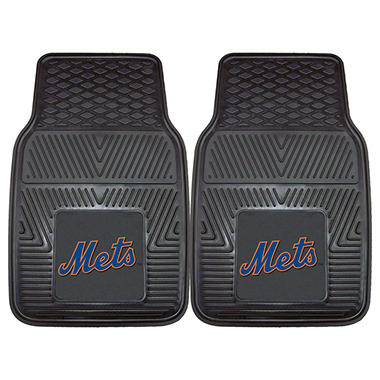 MLB New York Mets Heavy-Duty 2-Piece Vinyl Car Mats - 18