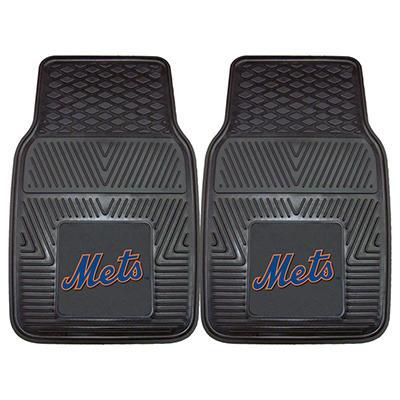 "MLB New York Mets Heavy-Duty 2-Piece Vinyl Car Mats - 18"" x 27"""