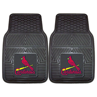"MLB St. Louis Cardinals Heavy-Duty 2-Piece Vinyl Car Mats - 18"" x 27"""