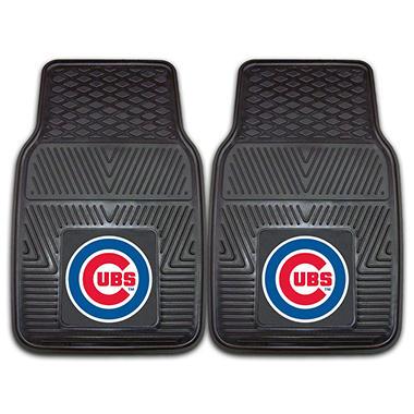 MLB Chicago Cubs Heavy-Duty 2-Piece Vinyl Car Mats - 18
