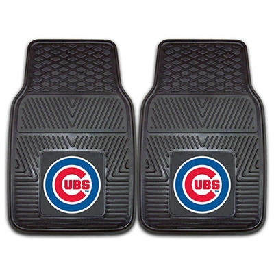 "MLB Chicago Cubs Heavy-Duty 2-Piece Vinyl Car Mats - 18"" x 27"""