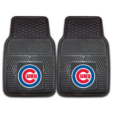 MLB Chicago Cubs Heavy-Duty 2-Piece Vinyl Car Mats - 18