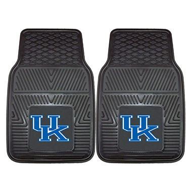 NCAA Kentucky Heavy-Duty 2-Piece Vinyl Car Mats - 18