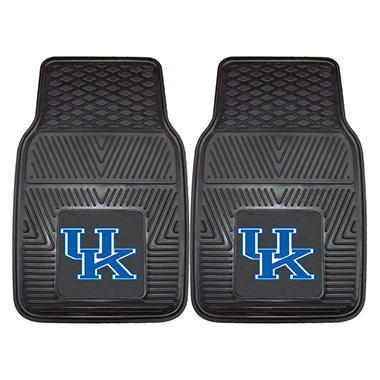 "NCAA Kentucky Heavy-Duty 2-Piece Vinyl Car Mats - 18"" x 27"""