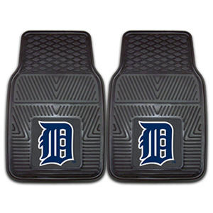 "MLB Detroit Tigers Heavy-Duty 2-Piece Vinyl Car Mats - 18"" x 27"""