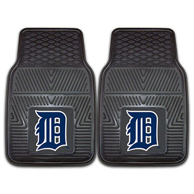 MLB Detroit Tigers Heavy-Duty 2-Piece Vinyl Car Mats - 18