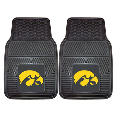 "NCAA Iowa Heavy-Duty 2-Piece Vinyl Car Mats - 18"" x 27"""