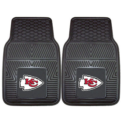 "NFL Kansas City Chiefs Heavy-Duty 2-Piece Vinyl Car Mats - 18"" x 27"""