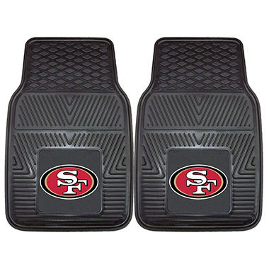 NFL San Francisco 49ers Heavy-Duty 2-Piece Vinyl Car Mats - 18