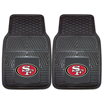 "NFL San Francisco 49ers Heavy-Duty 2-Piece Vinyl Car Mats - 18"" x 27"""