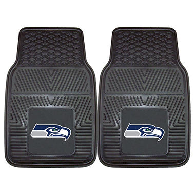 "NFL Seattle Seahawks Heavy-Duty 2-Piece Vinyl Car Mats - 18"" x 27"""