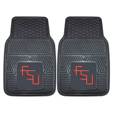 "NCAA Florida State Heavy-Duty 2-Piece Vinyl Car Mats - 18"" x 27"""