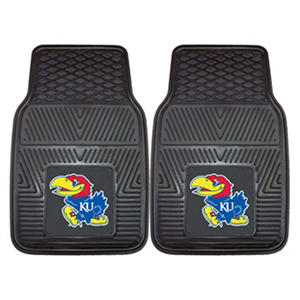 "NCAA Kansas Heavy-Duty 2-Piece Vinyl Car Mats - 18"" x 27"""