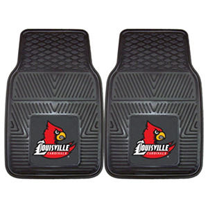 "NCAA Louisville Heavy Duty 2-Piece Vinyl Car Mats - 18"" x 27"""
