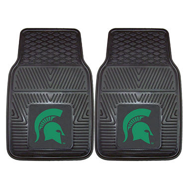"NCAA Michigan State Heavy-Duty 2-Piece Vinyl Car Mats - 18"" x 27"""