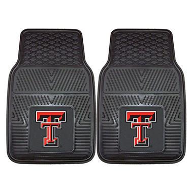 NCAA Texas Tech Heavy-Duty 2-Piece Vinyl Car Mats - 18