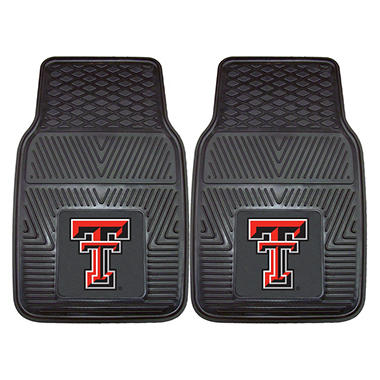 "NCAA Texas Tech Heavy-Duty 2-Piece Vinyl Car Mats - 18"" x 27"""