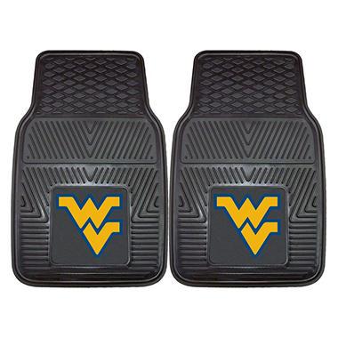 NCAA West Virginia Heavy-Duty 2-Piece Vinyl Car Mats - 18