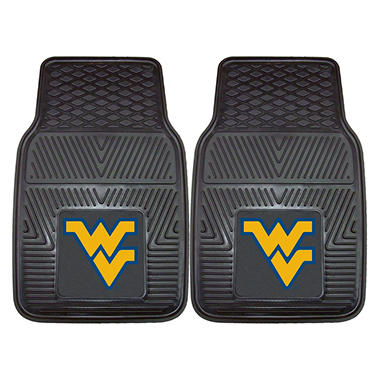 "NCAA West Virginia Heavy-Duty 2-Piece Vinyl Car Mats - 18"" x 27"""