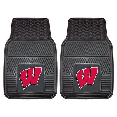 "NCAA Wisconsin Heavy-Duty 2-Piece Vinyl Car Mats - 18"" x 27"""