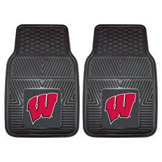 NCAA - University of Wisconsin 2-pc Vinyl Car Mat Set