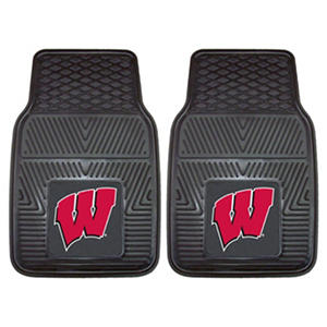 NCAA - University of Wisconsin 2-pc Vinyl Car Mat Set