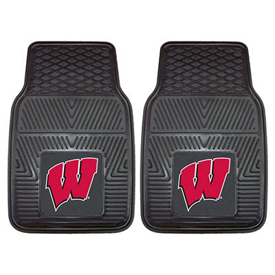 "NCAA Wisconsin Heavy-Duty 2-Piece Vinyl Car Mats - 18"" x 27"""