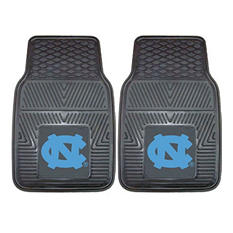 "NCAA UNC North Carolina - Chapel Hill Heavy Duty 2-Piece Vinyl Car Mats - 18"" x 27"""