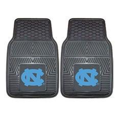 """NCAA UNC North Carolina - Chapel Hill Heavy Duty 2-Piece Vinyl Car Mats - 18"""" x 27"""""""