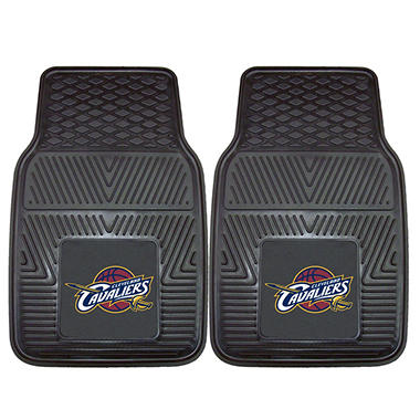 NBA Cleveland Cavaliers Heavy-Duty 2-Piece Vinyl Car Mats - 18
