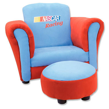 Trend Lab Chair and Ottoman - Nascar