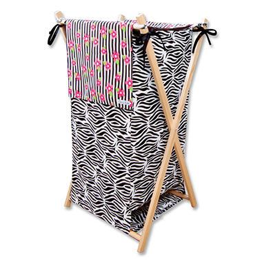 Trend Lab Hamper - Zahara Zebra