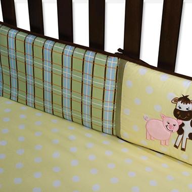 Trend Lab Crib Bumper - Baby Barnyard