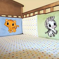Trend Lab Crib Bumper - Chibi Zoo