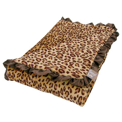 Trend Lab Receiving Blanket - Berry Leopard