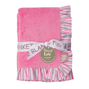 Trend Lab Ruffle-Trimmed Receiving Blanket, Lily