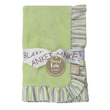 Trend Lab Ruffle-Trimmed Receiving Blanket, Lauren