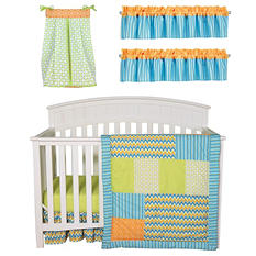 Trend Lab Baby Crib Bedding Set, 6 pc. - Levi